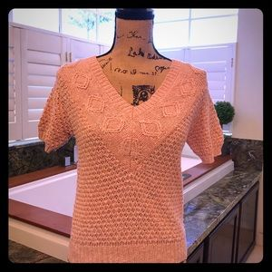 Sweaters - 3/$20 Vintage Baby Pink Knit Sweater